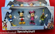 """NEW DISNEY 4 PC FIGURINE MICKEY MOUSE MINNIE 2-1/2"""" TALL CAKE TOP COLLECTABLE SO"""