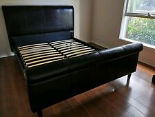 Queen size leather bed frame
