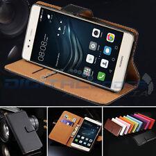 Premium Genuine Leather Wallet Case Cover Huawei P10 P9 / P10 Plus / Mate 10 / 9
