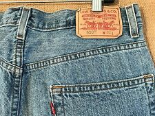 Levi's 550 Relaxed Fit W32 men's blue denim shorts zipper fly Colombia made
