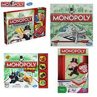 MONOPOLY BOARD GAME ORIGINAL EDITIONS STANDARD / JUNIOR / TRAVEL (HASBRO PARKER)
