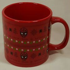 Spiderman Christmas Ugly Sweater Mug Marvel Comics Spider Man Ceramic Mug 20oz