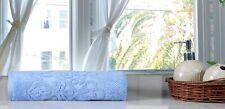 Jacquard 100% Cotton Luxurious Soft Absorbent  1 Piece Bath Towel Set - Blue