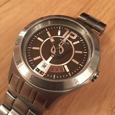 """Swatch Watch Irony """"In A Brown Mode"""" YTS406G Steel Band Date Dress Casual Quartz"""