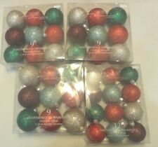 Lot 4 Box Jaclyn Smith 1-12 ct. & 3- 9ct Red -Green - Silver -Deep Red Ornaments