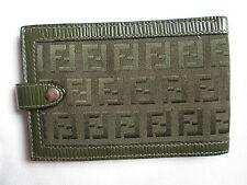 AUTHENTIQUE  portefeuille  FENDI cuir et toile (T)BEG vintage