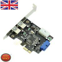 Nuevo PCI-E Expresa a USB3.0 Tarjeta 2ports+20pin Conector Control Adaptador De