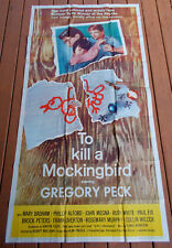 To Kill A Mockingbird Rare Orig 1963 Very Fine Three-Sheet