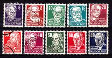 DDR, Köpfe II, 328,329,330,332,333,335,336,338,339,340 sauber gestemp.s.Scan(A11