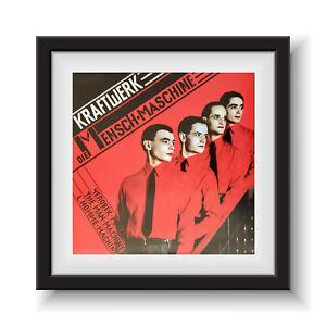 """Kraftwerk - The Man Machine   12"""" Album Cover - Framed 16"""" x 16"""""""