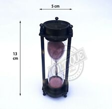 VINTAGE THEME 3 MINUTE SAND TIMER ANTIQUE HOUR GLASS TIMER COUNT MARITIME DECOR
