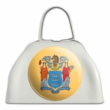 New Jersey State Flag White Metal Cowbell Cow Bell Instrument