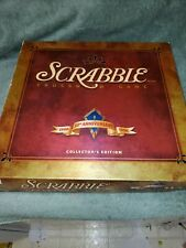 Scrabble 50th Anniversary Collectors Edition Blue Tiles Rotating Turntable Nice!