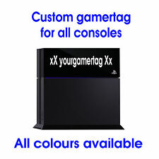 CUSTOM GAMER TAG STICKER FOR XBOX ONE 360 PS3 PS4 VINYL DECAL ANY COLOUR