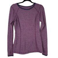 {Lululemon} Purple Turn Around Long Sleeve Knit Reversible Run Top Woman's 8