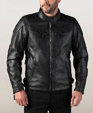 HARLEY-DAVIDSON Mens 2019 FXRG Black Leather Motorcycle Waterproof Riding Jacket