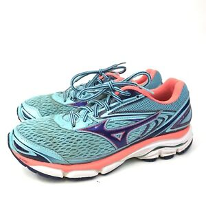 Brooks Wave Inspired 13 Womens Teal Lace Up Breathable Athletic Running Shoes 9