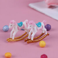 1/12 Miniature Wooden Rocking Horse Chair DIY Dollhouse Room Accessory Toys
