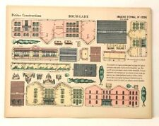 Imagerie D'Epinal No 1226 Bourgade, Petites Constructions toy paper model