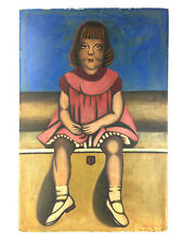 Mid Century Low Brow Girl Child Painting