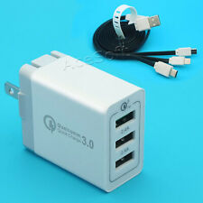 Rapidly High Security 3-Port PD3.0 + USB QC3.0 Adapter Charger F LG G5 US992 USA