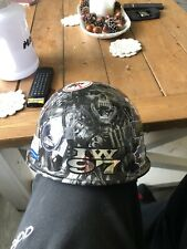 Black FIBRE-METAL Hard Hat With Ironworkers Stickers