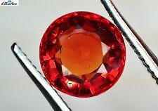 1x Saphir - Sapphire Orange Rot Rund brillant fac. 5,0mm (2512)