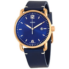 Fossil Commuter Blue Dial Mens Leather Watch FS5274