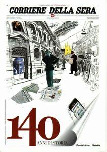 """2016 - Poste Italiane -  Folder  """"Corriere della Sera - 140 anni di storia"""""""