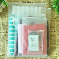 Matte Clear Plastic Packaging Frosted Zipper Bag Reclosable Clothes Underwear