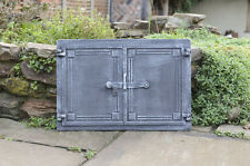 48 X 27cm Cast Iron Fire Door Clay Bread Oven Pizza Stove Smoke House Dzp16