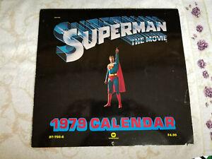 1979 Superman: The Movie Calendar / Chris Reeve, Brando / HUGE! Tons of pics!