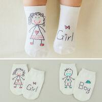 Bébé nouveau-né en coton asymétrie anti-dérapante chaussettes de sol IU