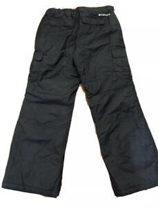 NWT Columbia Black Snowtop Waterproof Waist Adjust Winter Men's Pants Size: L