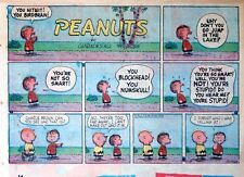 Peanuts by Charles Schulz - large half-page Sunday color comic - May 18, 1958