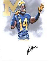 Josh Metellus Michigan Wolverines Signed autographed 8x10 football photo & CARD#