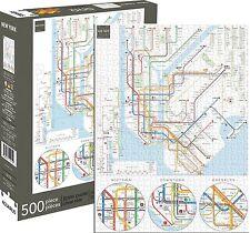 Nueva York Subway Mapa Puzzle 500 piezas 480mm x 350mm (Nm 62130)