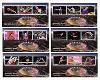 2012 OLYMPICS GYMNASTICS 10 SOUVENIR SHEETS MNH UNPERFORATED SPORTS