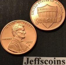 2017 S Lincoln Shield Cent Proof Deep Cameo 1¢ New Penny Union via US Mint Set