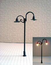 S148 - Set 10 Piece Lamps Streetlights Nostalgic 2 Flame 6,5cm