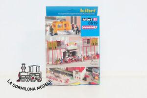 KIBRI 8619 H0 Conjunto elementos para estación ferroviaria - NUEVO