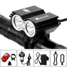 8000LM LED Bicycle Bike Front Headlight & Rear Tail Lamp 18650 Battery & Charger