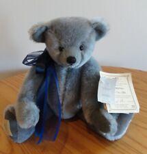 """Deans Rag Book Club Stephen Mohair Teddy Bear 174/300 Le Tags Grey 12"""" Le"""