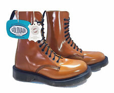 Solovair Dr. Martens England Doc Limited Edition Tan 11 Eye Boots UK 5 US 7