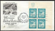 UN NY 1959 FDC cover Economic commision for Europe Old street photo in Rotterdam