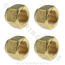 """4 PACK 3/8"""" SHORT FLARE NUT FOR REFRIGERATION PIPEWORK COPPER TUBE / SOFT TUBING"""