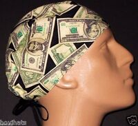 LOTS OF CASH MONEY SURGICAL SCRUB HAT / FREE CUSTOM SIZING!