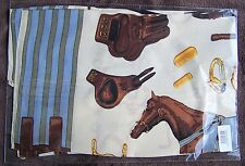 Equestrian Themed 100% Pure Silk Scarf Equestrian Horse Racing Gift. New Wrapped
