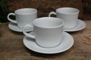 2 IKEA Kaffeetassen mit Untertassen 13781 Keramik weiß