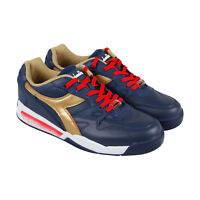 Diadora Rebound Ace 173079-60031 Mens Blue Leather Casual Low Top Sneakers Shoes